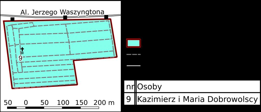 Mapa Cmentarza na Salwatorze. Źródło: Witold Jucha